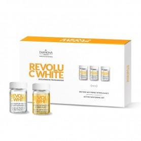 FARMONA REVOLU C WHITE Zestaw aktywnie wybielający: 10* aktywny koncentrat wybielający, 10* aktywator maski-czysta witamina C, 1