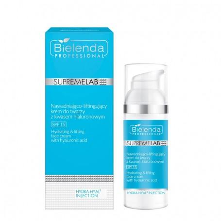 BIELENDA Hydra-Hyal2 Injection Nawadniająco-liftingujący krem do twarzy z kwasem hialuronowym SPF 15 50ml