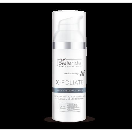 BIELENDA X – FOLIATE - Anti Wrinkle krem do twarzy o działaniu przeciwzmarszczkowym 50ml