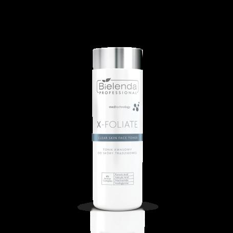BIELENDA X – FOLIATE Clear Skin Tonik kwasowy do skóry trądzikowej 200ml