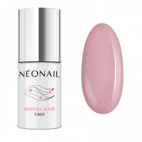 NEONAIL Lakier hybrydowy 7,2 ml - Revital Base Fiber Blinking Cover Pink