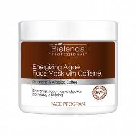 BIELENDA Energetyzująca maska algowa do twarzy z Kofeiną 160 G