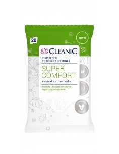 Cleanic Intimate Chusteczki do higieny intymnej Super Comfort
