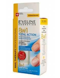 Eveline Nail Therapy Lakier odżywka do paznokci 8w1 Total