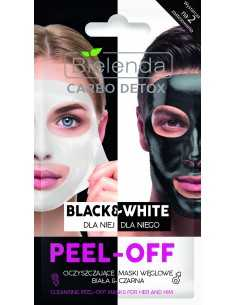Bielenda Carbo Detox Maska peel-off Black&White dla niej i dla