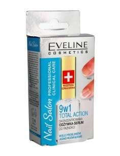 Eveline Nail Salon Odżywka -serum do paznokci 9w1 Total Action