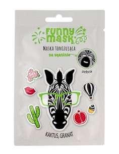 Marion Funny Mask Maseczka na tkaninie tonizująca Zebra 1szt