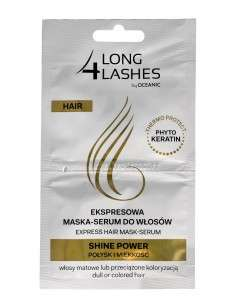 Long 4 Lashes Ekspresowa Maska-Serum do włosów Shine Power 6mlx2