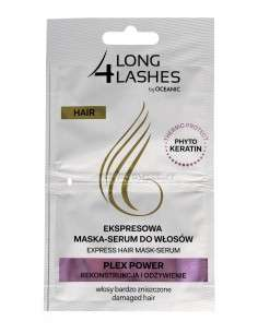 Long 4 Lashes Ekspresowa Maska-Serum do włosów Plex Power 6mlx2