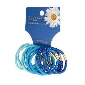 Top Choice Gumki do włosów niebieskie (21305) 1op.-12szt