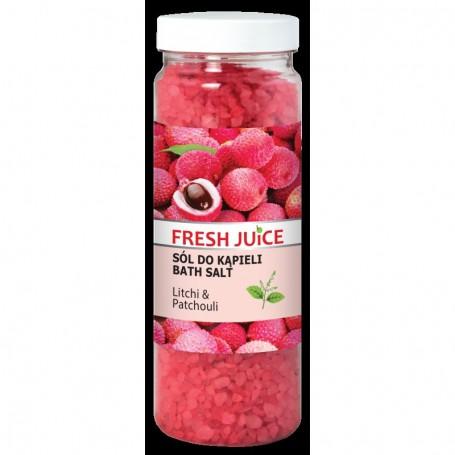 Fresh Juice Sól do kąpieli Litchi & Patchouli 700g