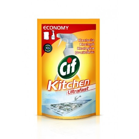 Cif Ultraszybki spray do kuchni- zapas 500 ml