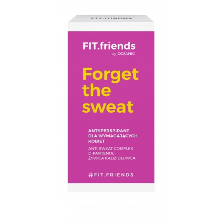 FIT.friends Forget The Sweat Deo antyperspirant roll-on dla