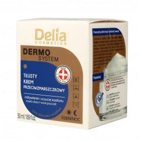 Delia Cosmetics Dermo System Tłusty Krem przeciwzmarszczkowy na