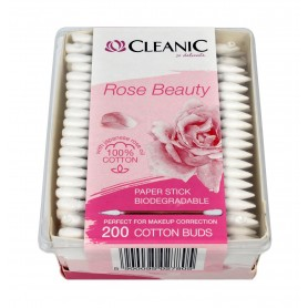 Cleanic Patyczki higieniczne Rose Beauty 1op.-200szt