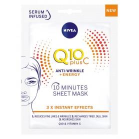 Nivea Q10 Plus C Maska w płacie 10-minutowa Anti-Wrinkle+Energy