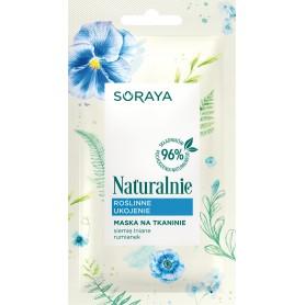 Soraya Naturalnie Maska na tkaninie Roślinne Ukojenie 17g