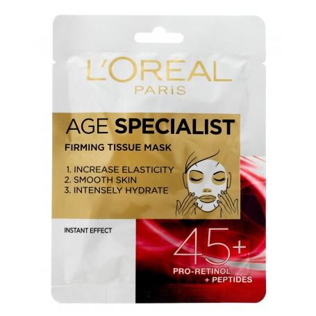 Loreal Age Specialist 45+ Maska na tkaninie ujędrniająca 30g