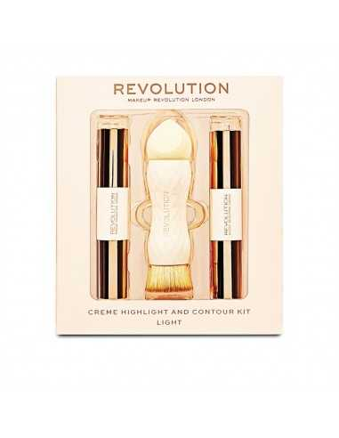 Makeup Revolution Creme Highlight and Contour Kit - Light zestaw