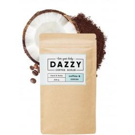 DAZZY Peeling kawowy do twarzy i ciała - Kokos 200g