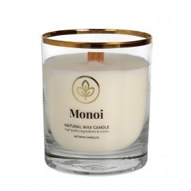 ARTMAN Organic Świeca zapachowa z drewnianym knotem Monoi 1szt