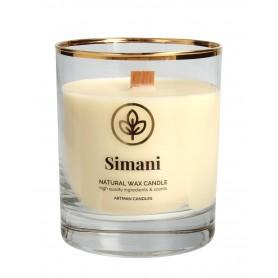 ARTMAN Organic Świeca zapachowa z drewnianym knotem Simani 1szt