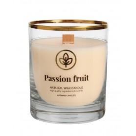 ARTMAN Organic Świeca zapachowa z drewnianym knotem Passion