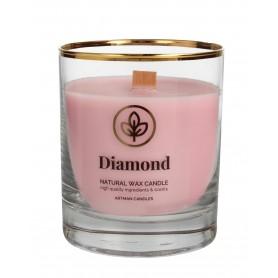 ARTMAN Organic Świeca zapachowa z drewnianym knotem Diamond 1szt