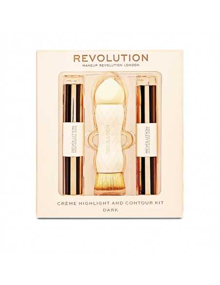 Makeup Revolution Creme Highlight and Contour Kit - Dark zestaw