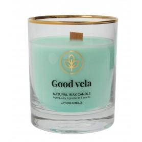 ARTMAN Organic Świeca zapachowa z drewnianym knotem Good Vela