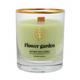 ARTMAN Organic Świeca zapachowa z drewnianym knotem Flower