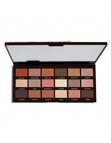 Makeup Revolution Nudes Chocolate Palette paleta cieni do powiek wygląd