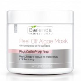 BIELENDA Peel-off maska algowa na okolice oczu z płatkami róży
