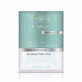 BIELENDA PURE SOLUTION FACE SHEET MASK Normalizująca maska w