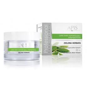 APIS Lekki krem normalizujący, antytrądzikowy - zielona herbata