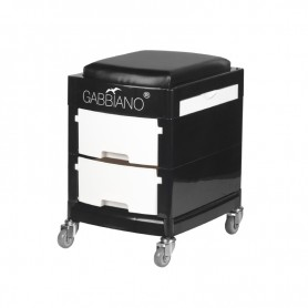 POMOCNIK - TABORET DO PEDICURE 16-1 BLACK/WHITE