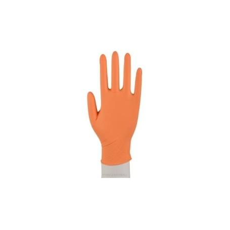 Abena nitrylowe rękawiczki diagnostyczne pomarańczowe XS