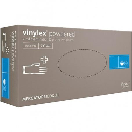 Vinylex rękawiczki czarne rozmiar M Mercator Medical