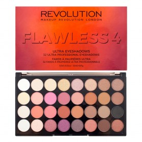 Makeup Revolution Ultra Palette 32 Zestaw cieni do powiek Flawless 4   16g (32 kolory)