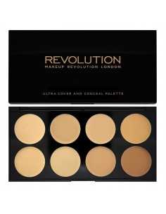 Makeup Revolution Ultra Cover and Conceal Palette paleta korektorów Light Medium