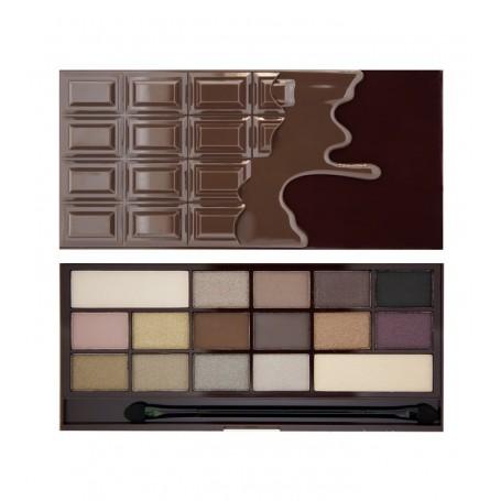 I Heart Makeup Palette Zestaw cieni do powiek Death by Chocolate   22g (16 kolorów)